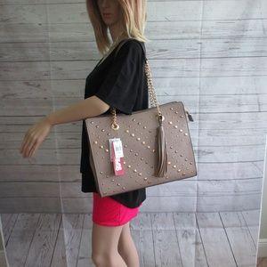 NWT - CARLOS large studded handbag/tote - MSRP $98